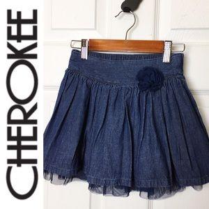 🌸CHEROKEE🌸 Girls Denim Skirt